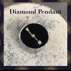 Jewelry - Past present and future diamond pendant